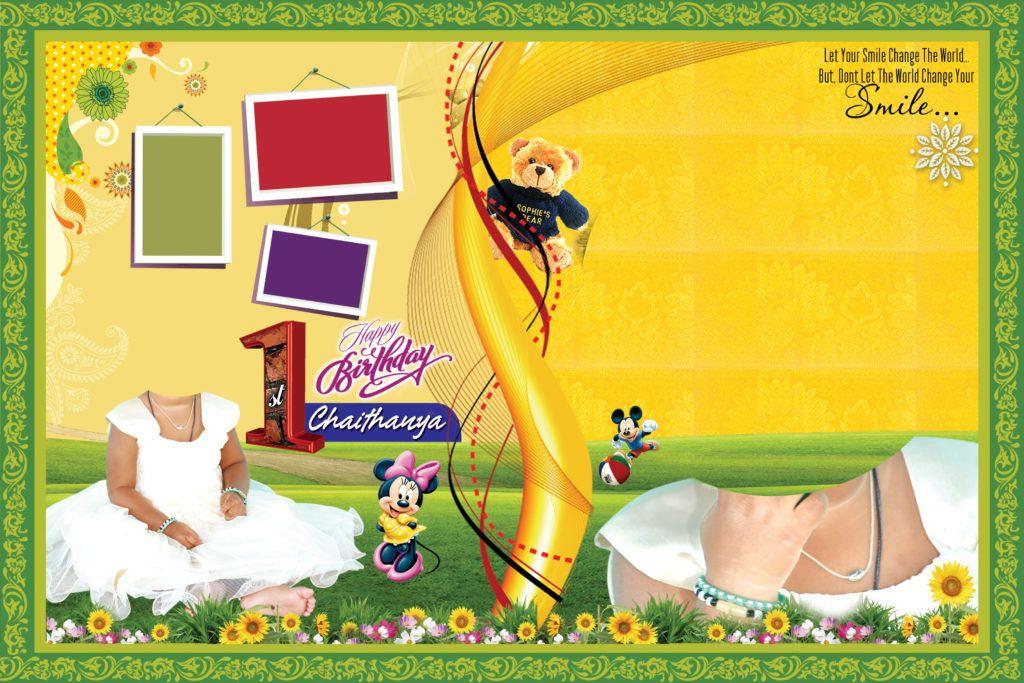 Birthday banner psd template flex banner design