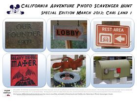 400 Miles to Disneyland: Special Edition Scavenger Hunt: Cars Land