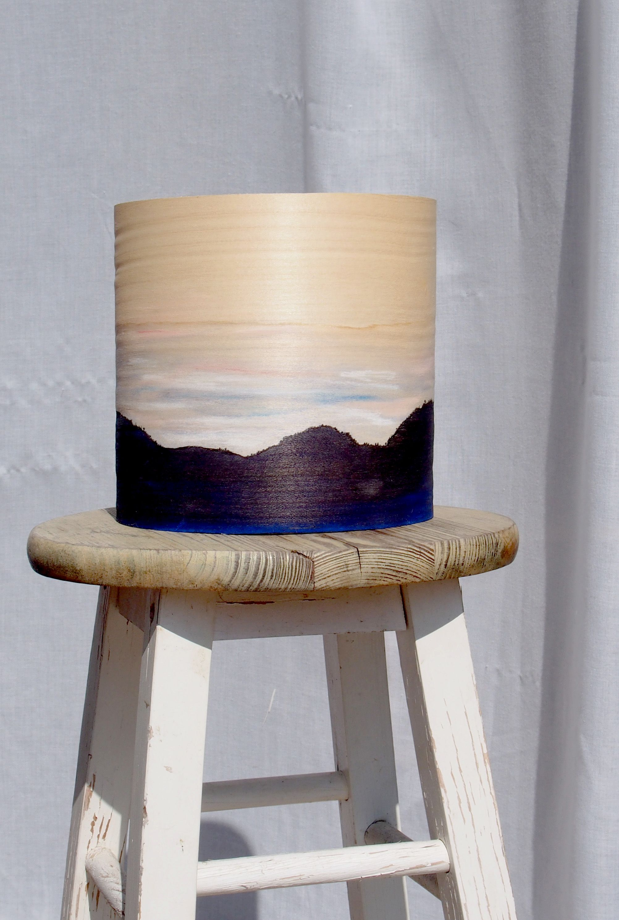 """Lampe XYLOFEEL """"paysages des monts d'or"""""""