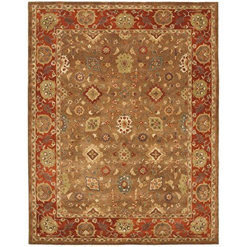 Safavieh Heritage Collection Hg952a Handmade Traditional Oriental Moss And Rust Wool Area Rug 23 X 4