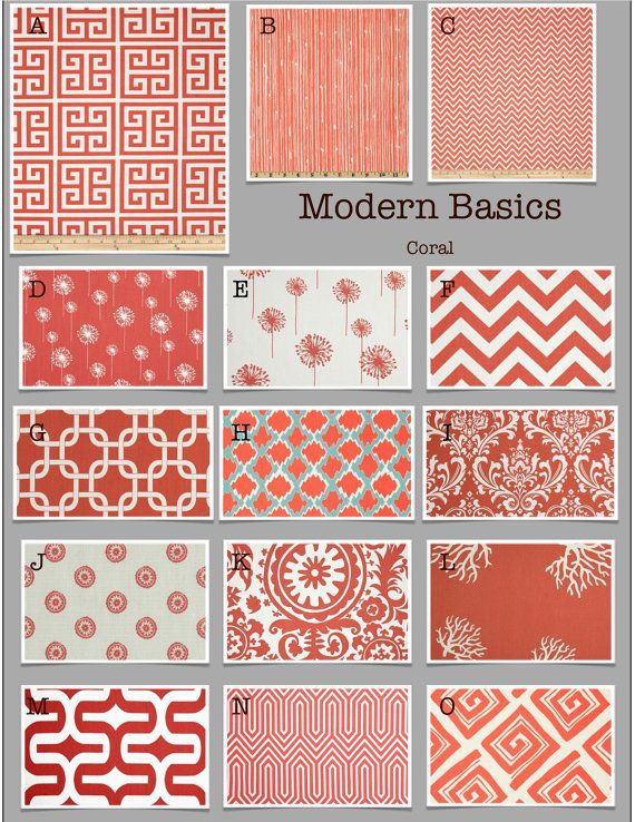 modern basics in coral custom baby crib bedding design your own by