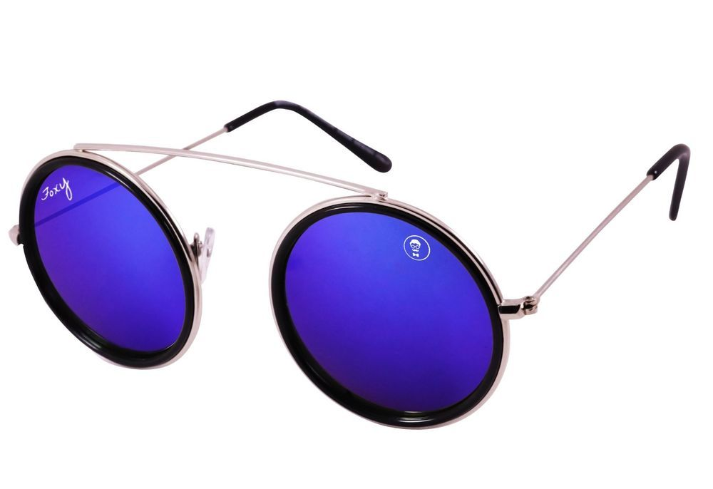 9dc7e7c235 Foxy New Vintage UV400 Blue Shades Womens Mens Round Sunglasses in Box   fashion  clothing  shoes  accessories  unisexclothingshoesaccs   unisexaccessories ...