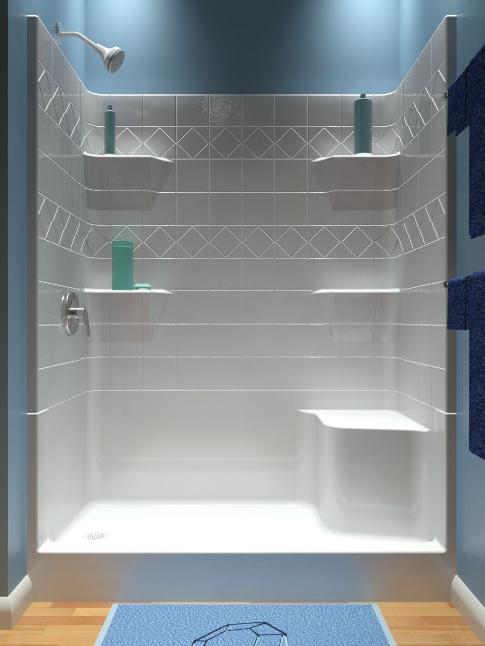 Steam Shower With Bench