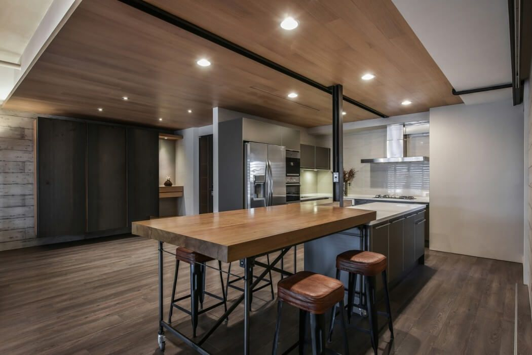 Modern dry kitchen design complete with a custom built for Dry kitchen ideas
