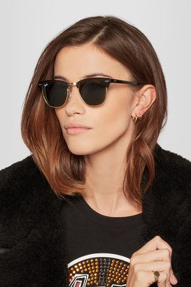 Shop Now - >  https://api.shopstyle.com/action/apiVisitRetailer?id=422670538&pid=uid6996-25233114-59 Ray-Ban - Clubmaster Acetate Sunglasses - Black  ...