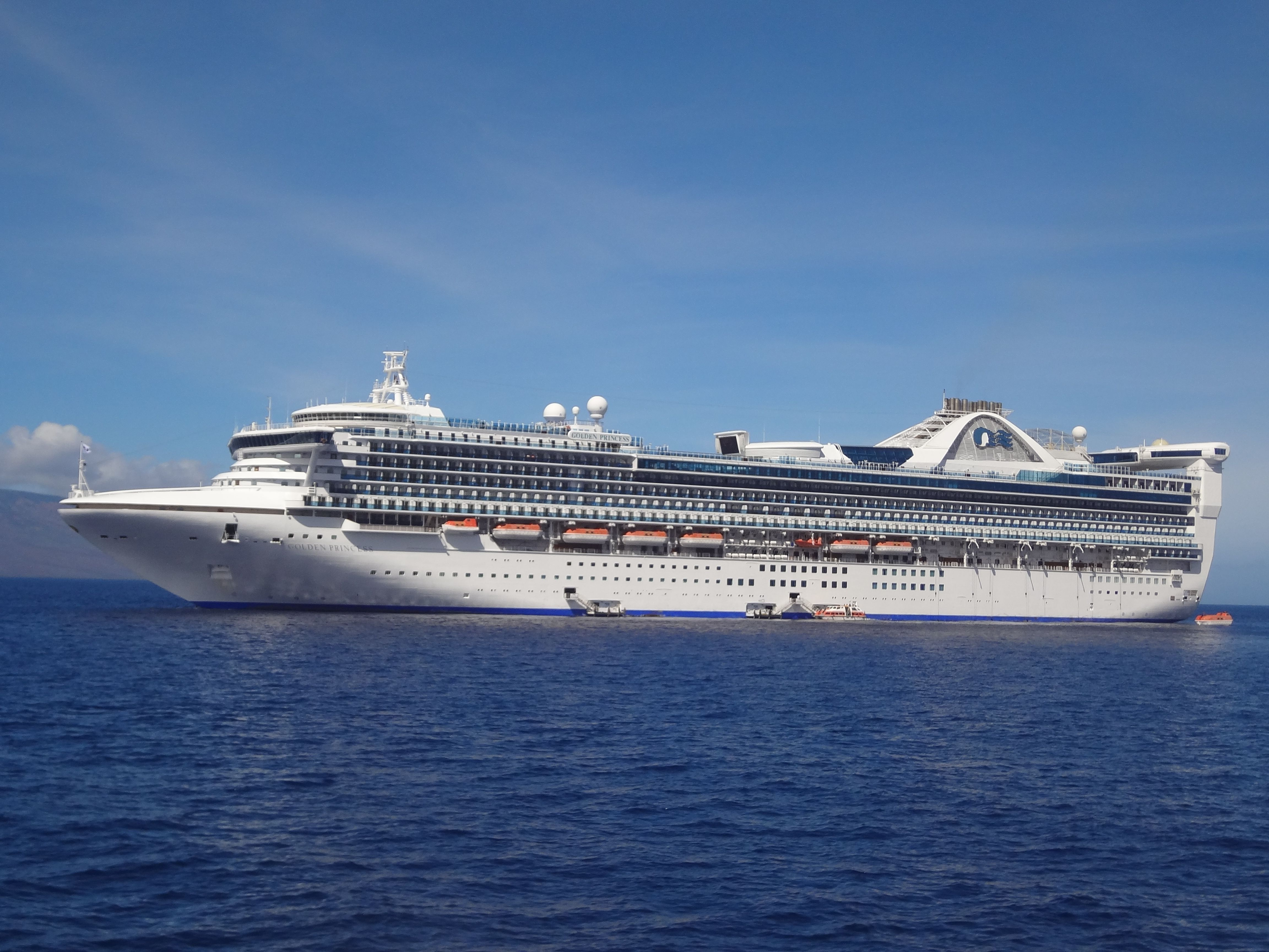 The Golden Princess cruise ship from our