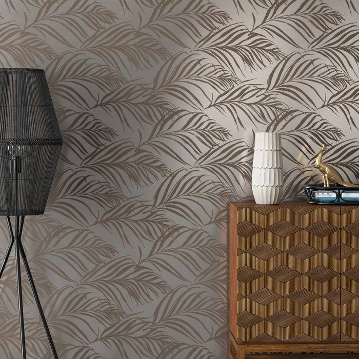 Metallic Palma Peel Stick Wallpaper Silver Opalhouse Peel And Stick Wallpaper Palm Print Wallpaper Opalhouse