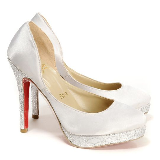 louboutin wedding shoes christian louboutin eugenie satin wedding pumps wedding 5604