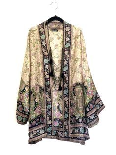 Silk Kimono jacket / cover up / bed jacket cream and by Bibiluxe ...