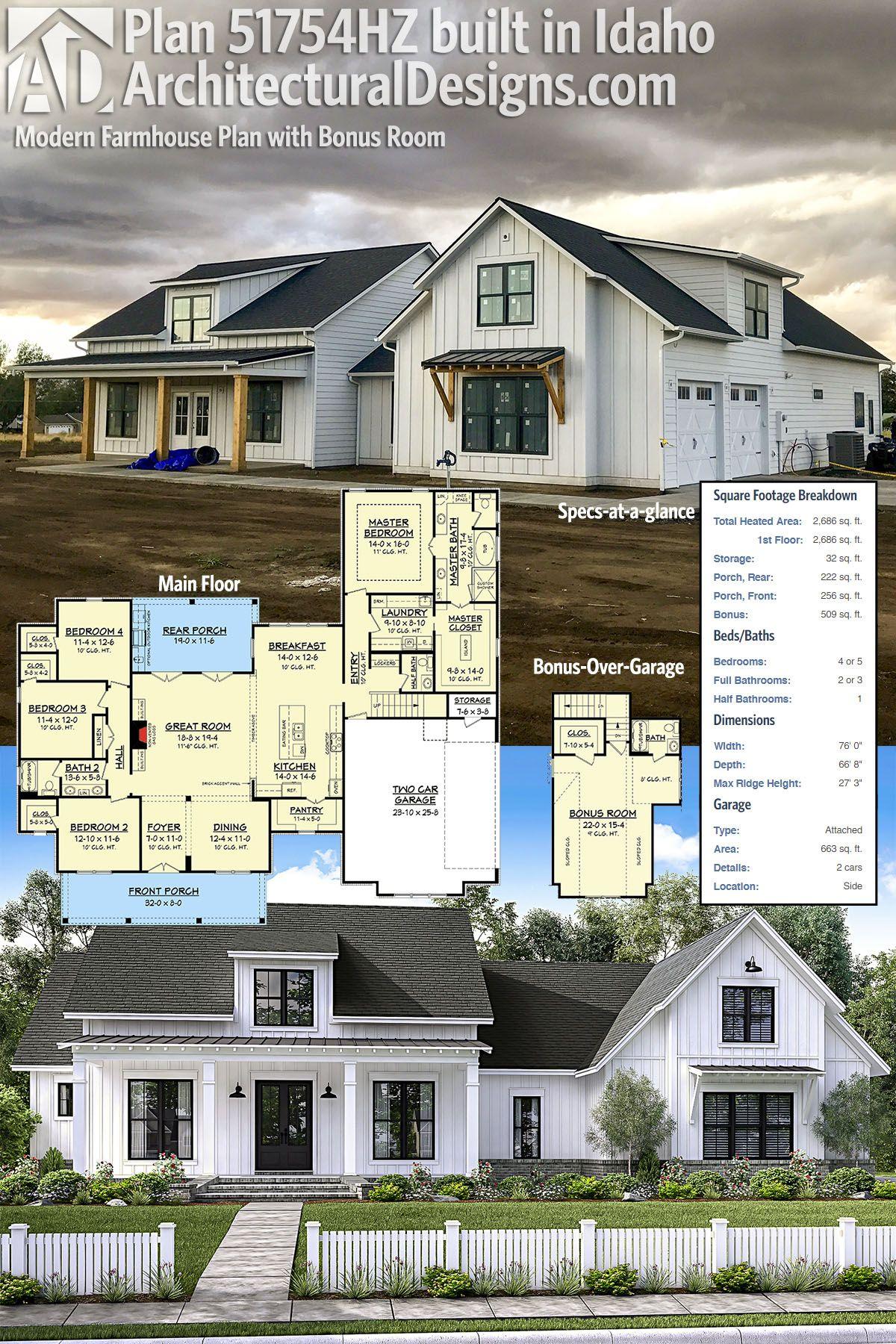 Architectural Designs Modern Farmhouse Plan 51754HZ coming