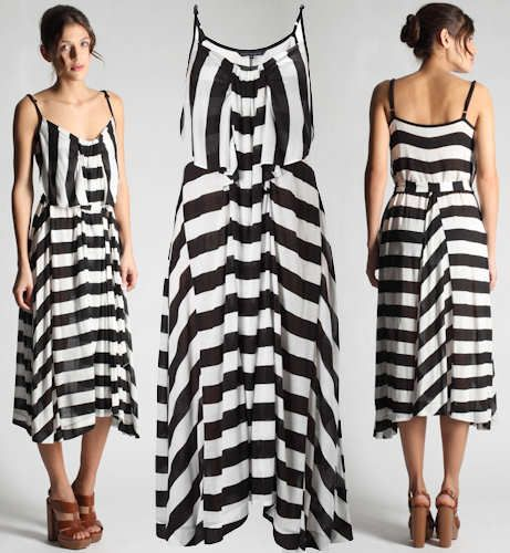 French Connection Broadway Stripe Maxi Dress
