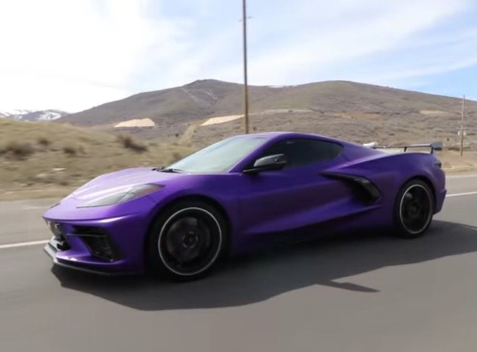 Stradman S Purple C8 Sports Car Corvette Purple