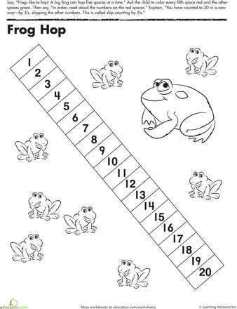 Skip Counting by 5: Frog Hop!