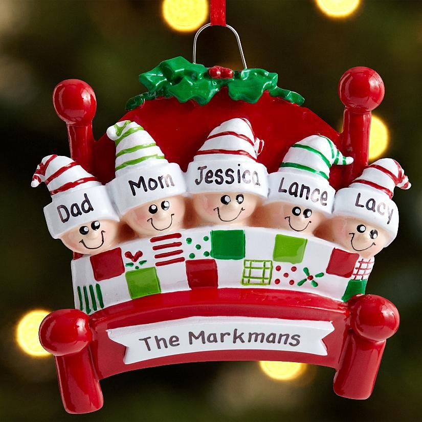 Personalized Family Christmas Ornaments With Dog