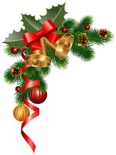 Christmas corner decoration png clipart image new year for X mas decorations png