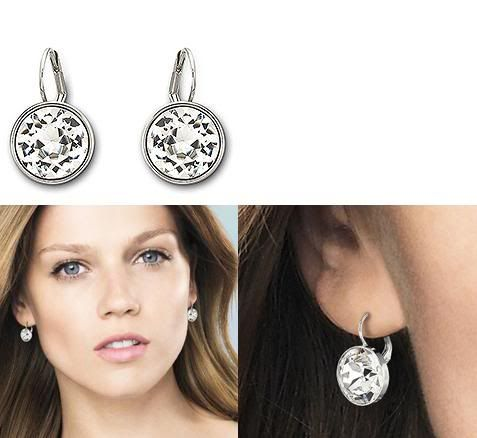Swarovski Bella Clear Crystal Pierced Earrings Piercings
