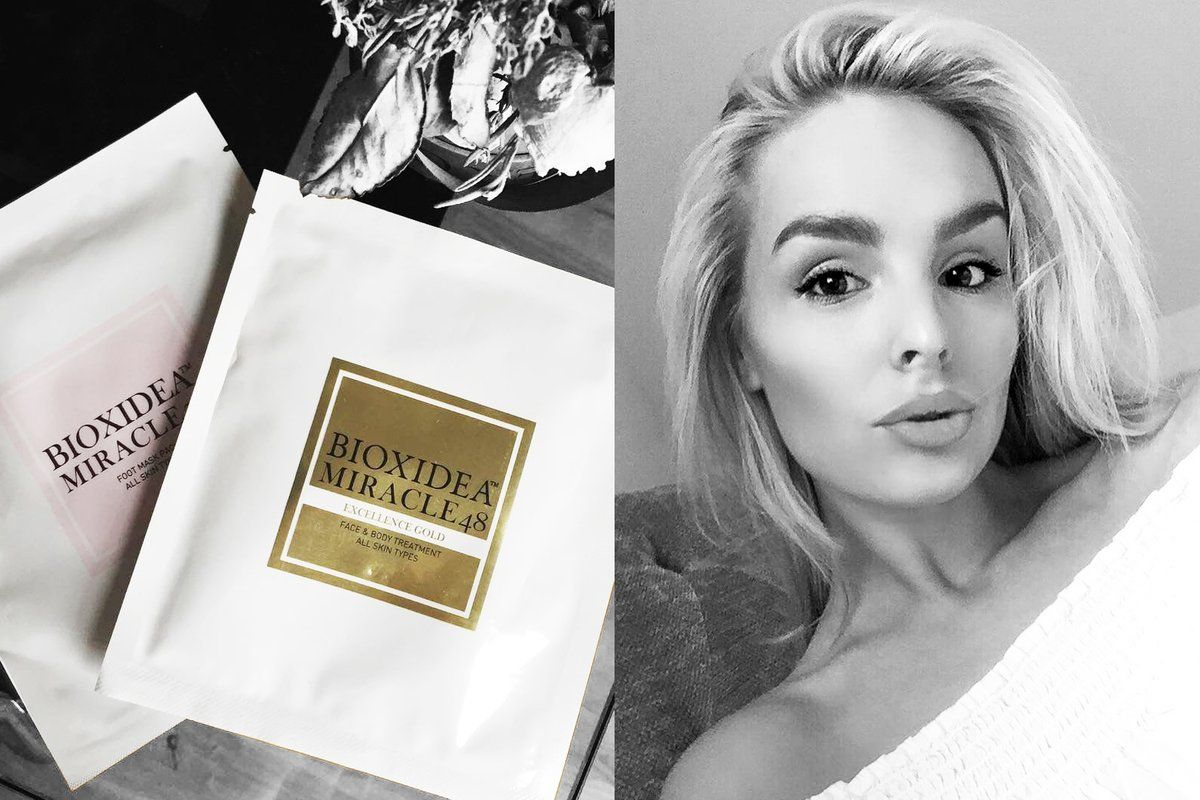 """""""The perfect evening"""" - Beauty Editor Rebecca Eland on Bioxidea Miracle24 Foot mask"""