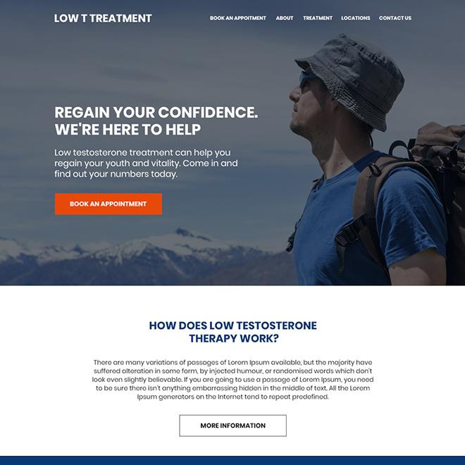 Pin on low testosterone landing page design