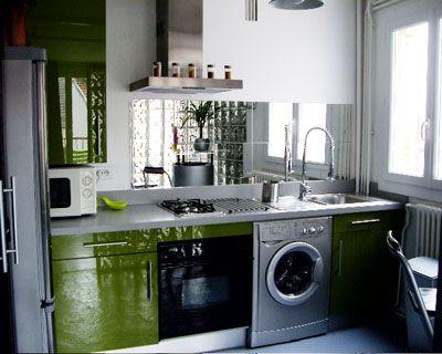 cr dence miroir pas cher avec de grands carreaux pos s c te c te cuisine pinterest. Black Bedroom Furniture Sets. Home Design Ideas