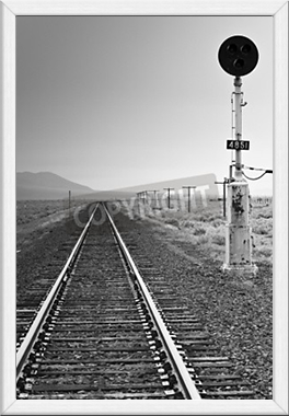 Gerahmtes Wandbild Railroad Light