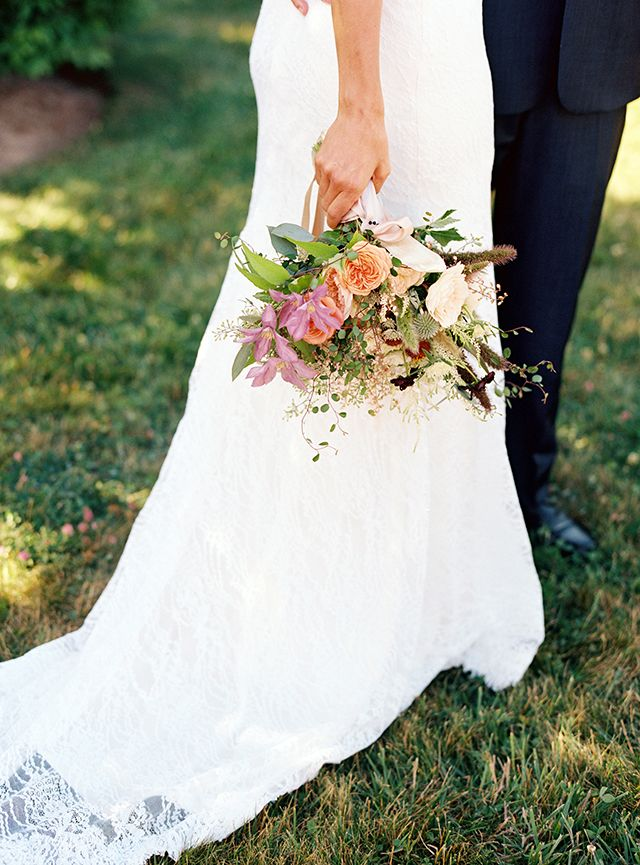 Photography by Karen Wise :: Published on Snippet & Ink :: Lauren and Benoit wed in eclectic style at a private residence on the beautiful Block Island, Rhode Island, surrounded by 80 loved ones.