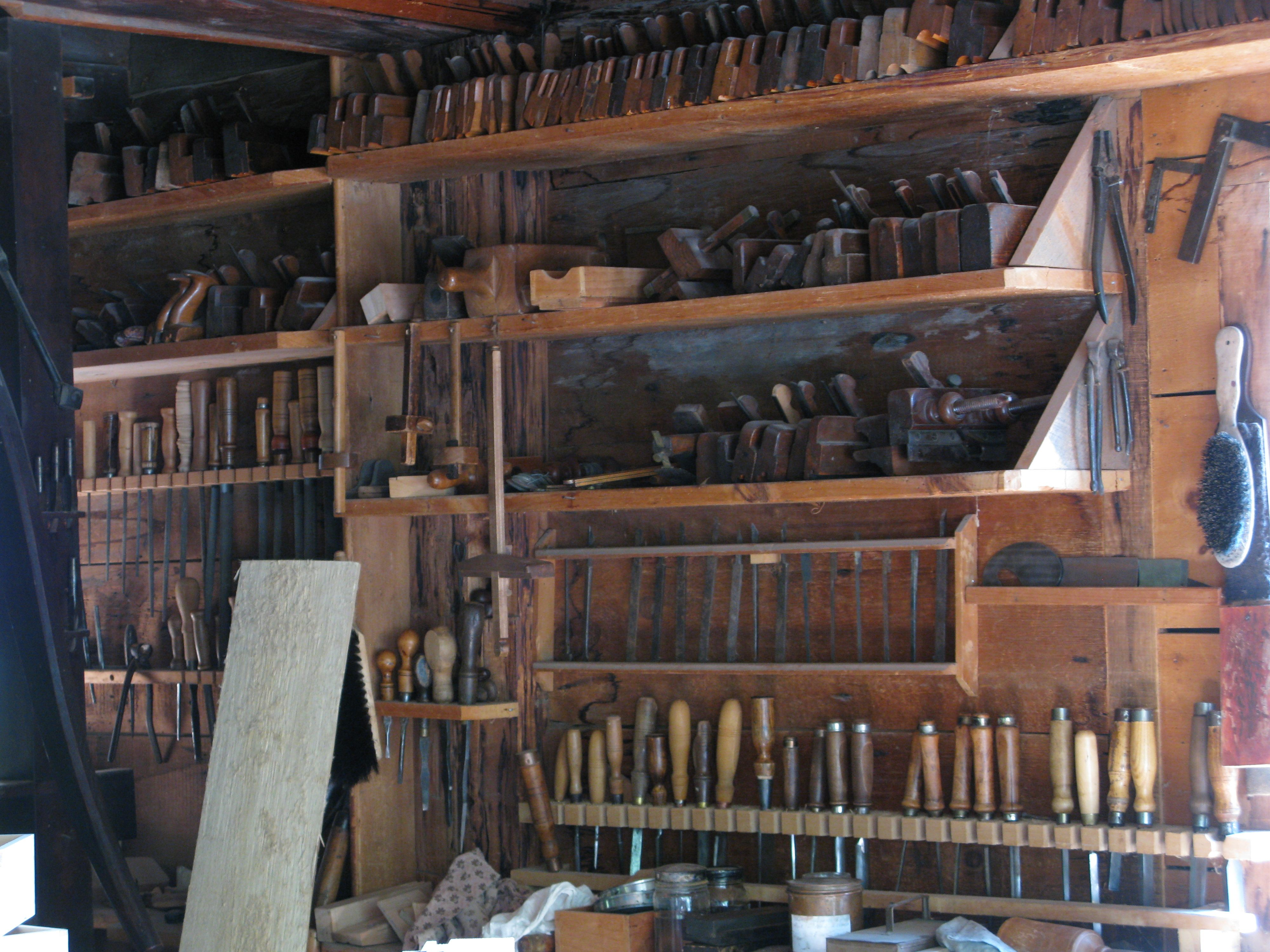 Workshop Hand Tool Storage At Upper Canada Village