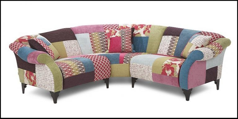 Modern British Handmade Bold Multi Coloured Patchwork Chesterfield