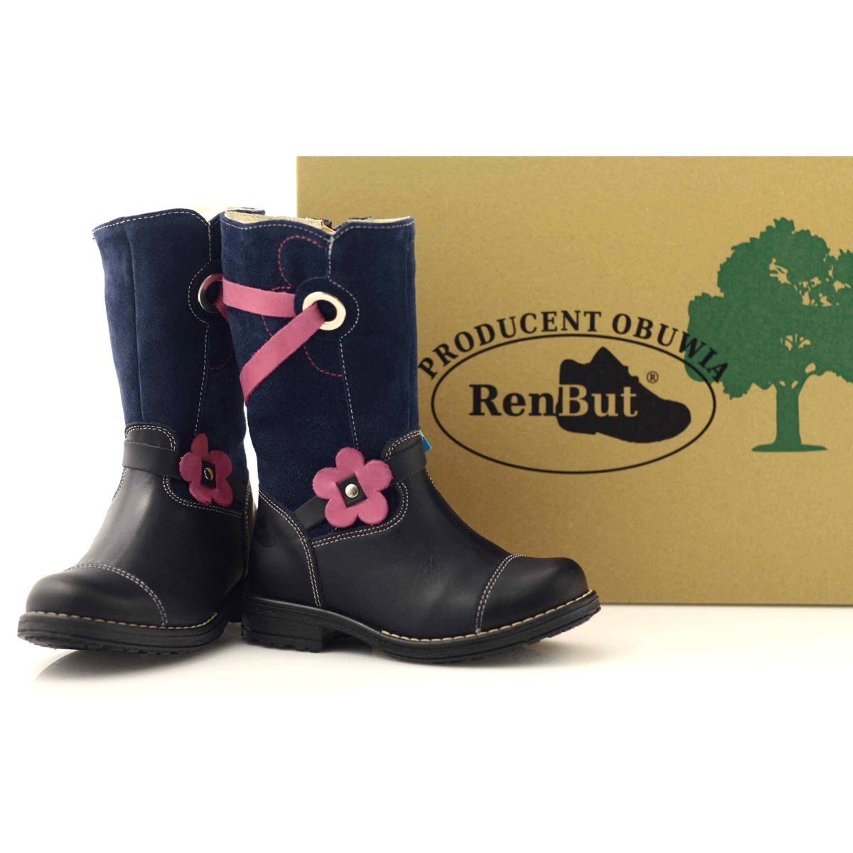 Kozaczki Buty Dzieciece Zimowe Ren But 3172 Granatowe Rozowe Boots Shoes Ugg Boots