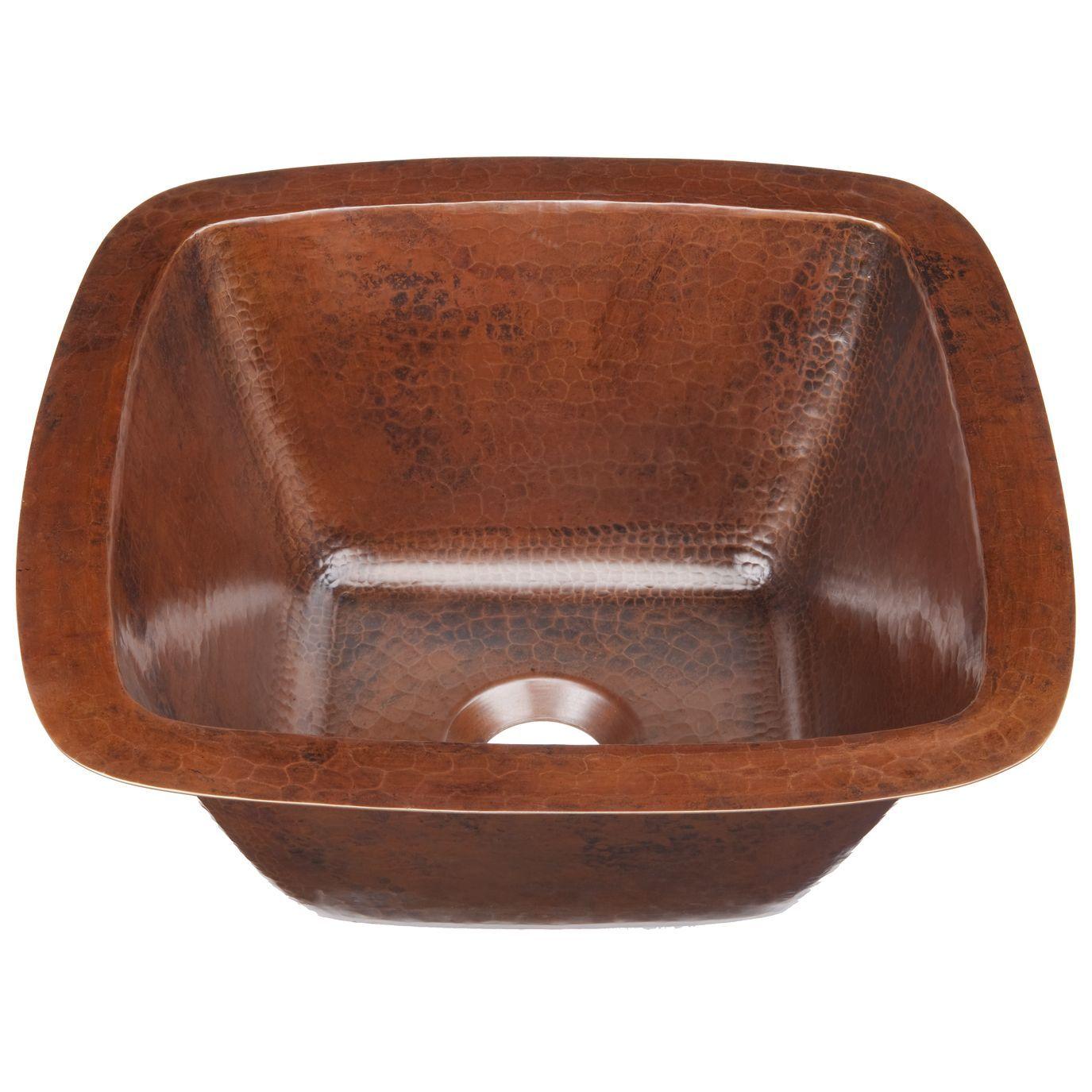Sinkology Pollock Dual Copper 12 Copper Bar Prep Sink In Aged Copper Black Copper Bar Sink Copper Sink Bathroom