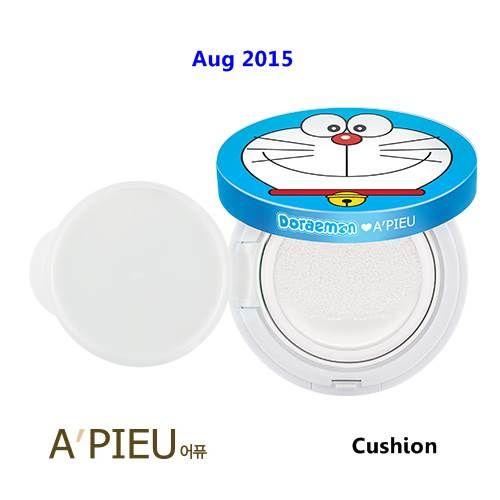 [ A'pieu ] Air Fit A'pieu Bboyan Cushion SPF50+ PA+++ 14g, Doraemon Edition, Korean Best Cosmetics, Free Shipping