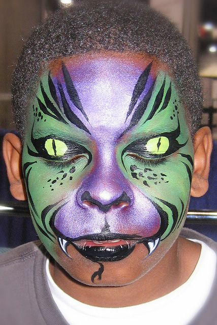 C Lizard Face Painting Face Painting Halloween Face Painting Designs