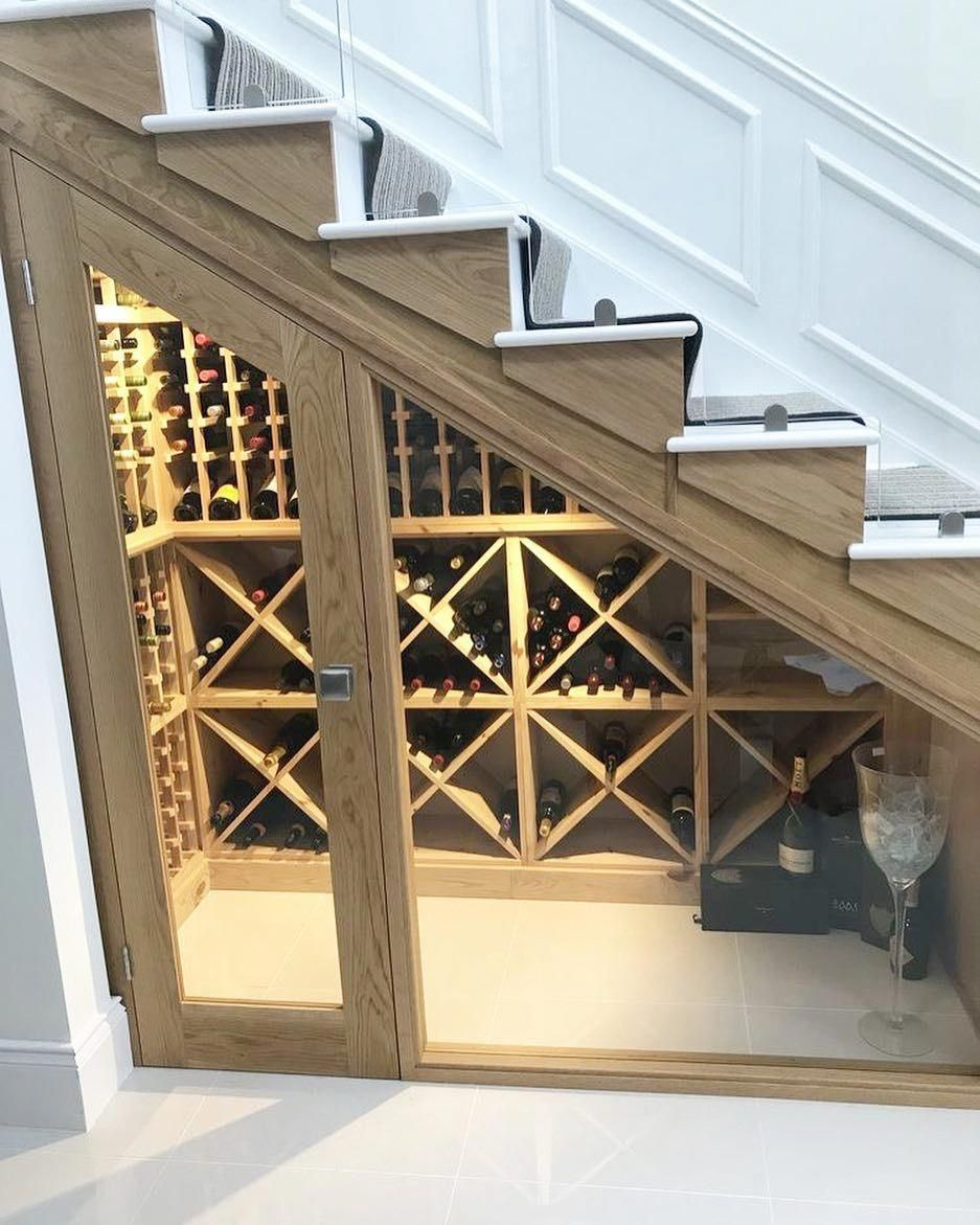 Bespoke Under Stairs Shelving: Inexpensive Wine Coolers #OrderWineInBulk #BaroloWine