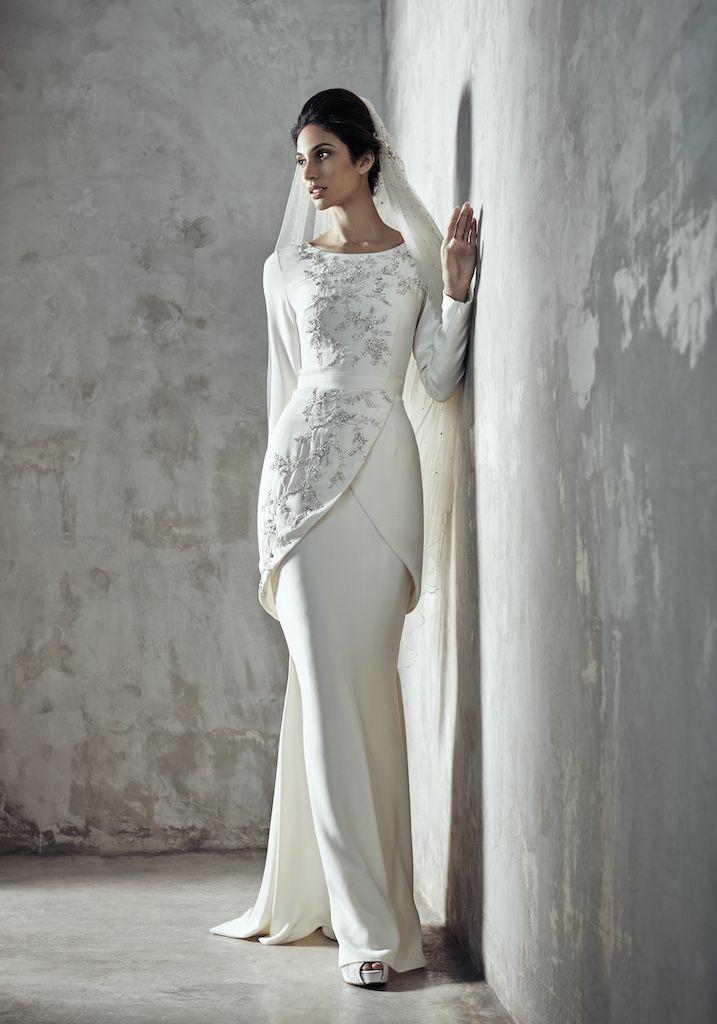001 melinda looi ivory 2019 baju akad nikah modern baju