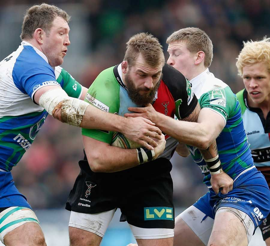 """Much like """"the beat"""", you can't stop--can't stop!-- can't stop the Joe Marler, don't stop --don't stop-- don't stop the Joe Marler."""