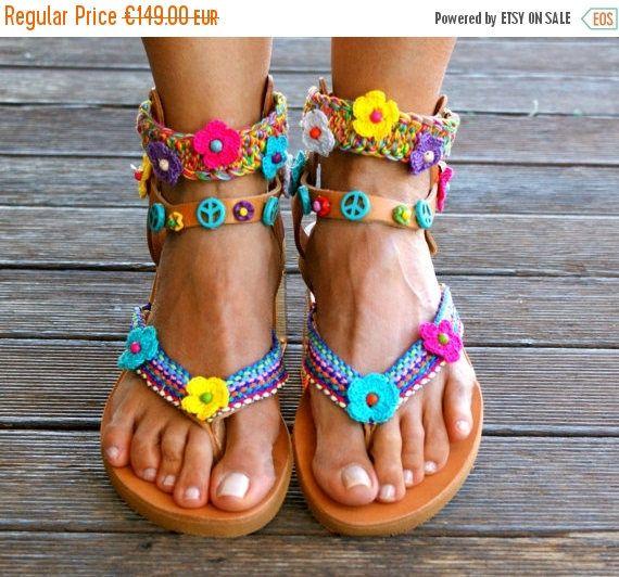 014ccaf030c4 SIZE 40  MARGARITA sandals   boho sandals  leather greek sandals ...
