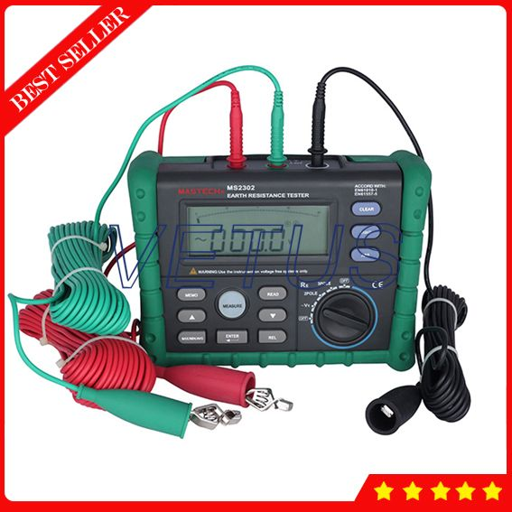MS2302 Digital Earth Ground Resistance Tester with Megger