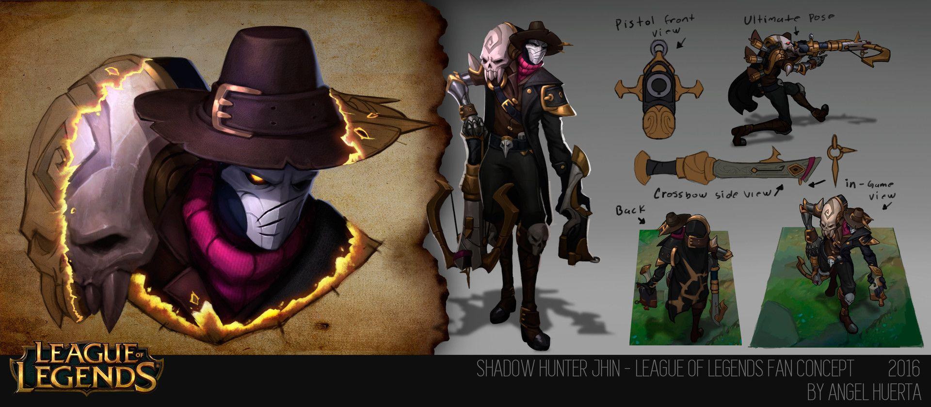 artstation shadow hunter jhin league of legends fan