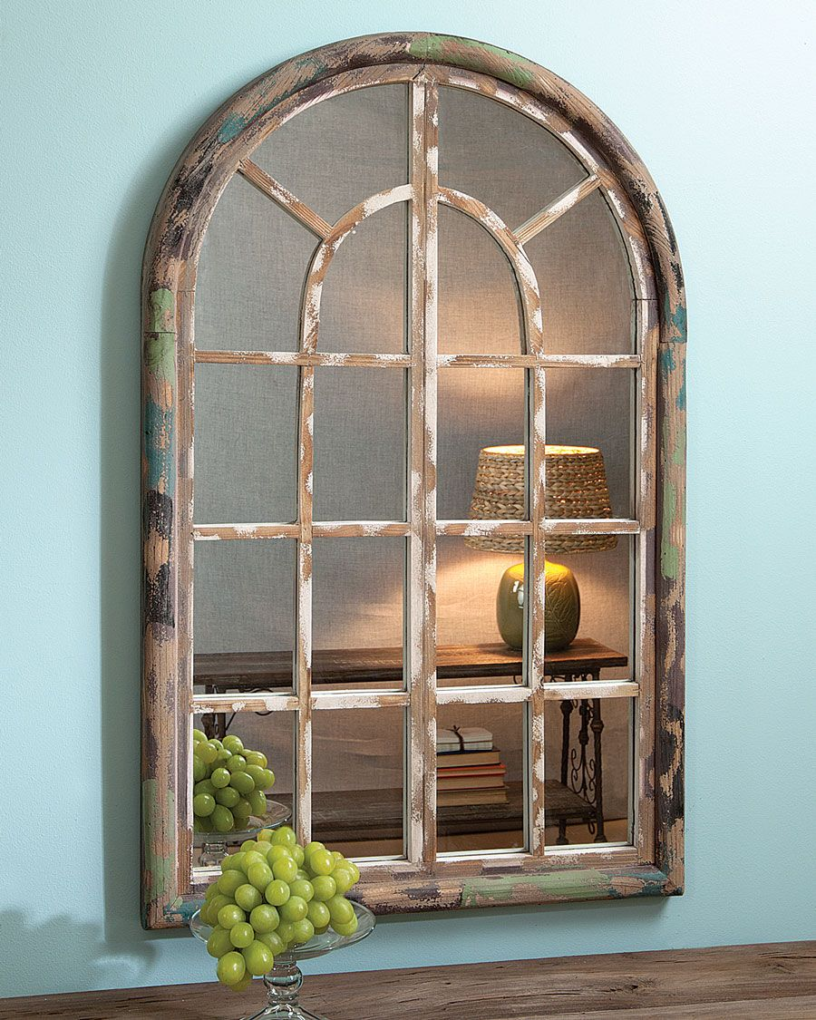 Arched Window Mirror Acacia. Something like this above