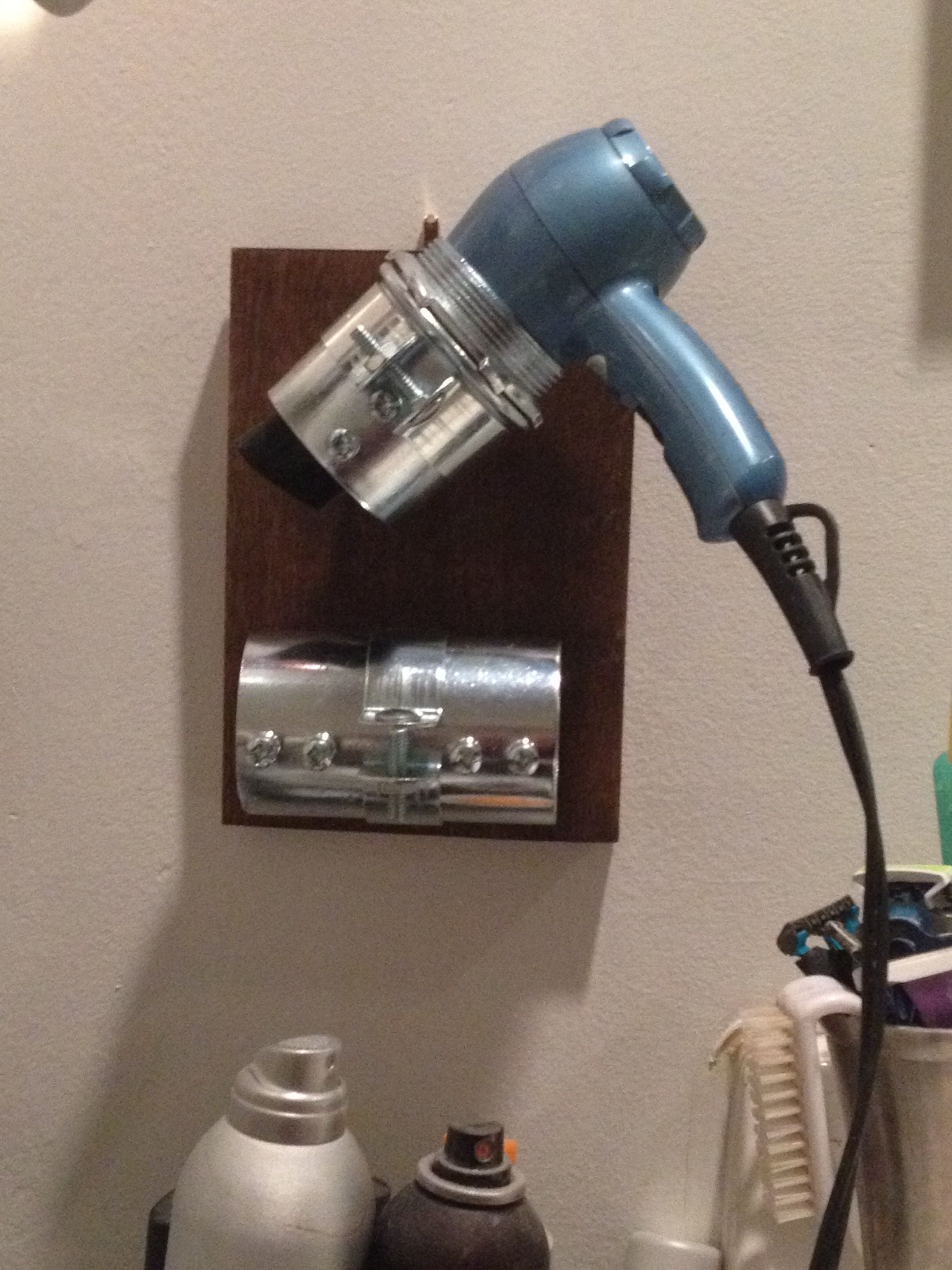 Dryer And Flat Iron Holder COMPLETED Craft Projects In