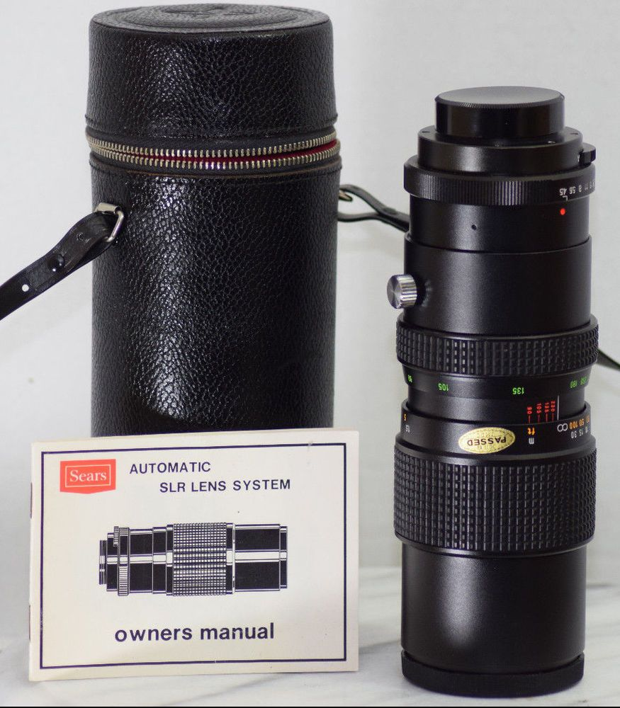 Vintage Tokina Sears 90 230mm F4 5 Slr Zoom Lens Pentax Ricoh Mamiya Mint 102661 Tokina Zoom Lens Pentax Lens