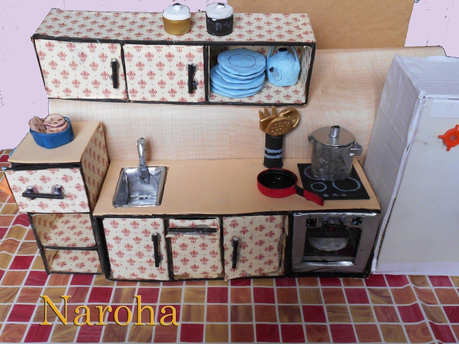Cocina 1600 1200 muebles de carton pinterest for Cocina de carton