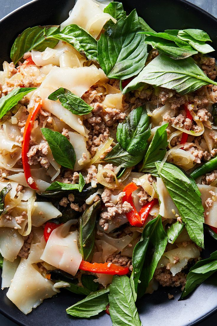NYT Cooking: This stir-fry of rice noodles and ground pork ...
