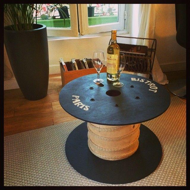 Touret Custom DIY Table Basse Touret Touret Et Deco