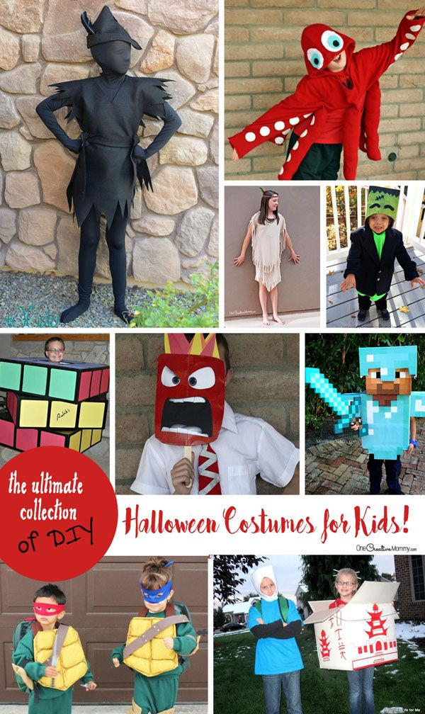 The ultimate collection of DIY Halloween Costumes for Kids DIY - simple halloween costumes ideas