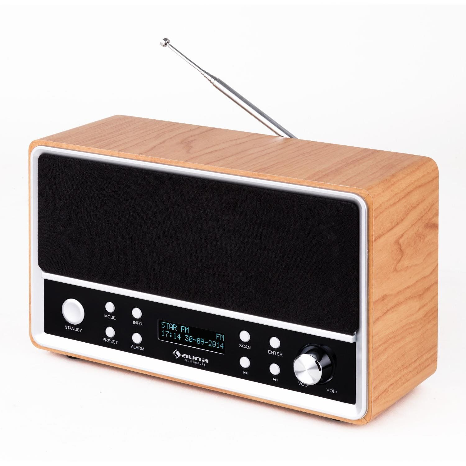auna charleston retro radiowecker dab radio im. Black Bedroom Furniture Sets. Home Design Ideas