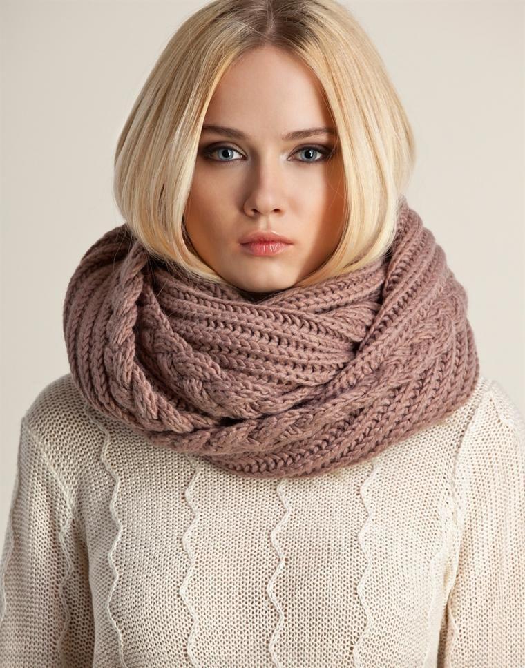Вязать шарф-снуд спицами схема
