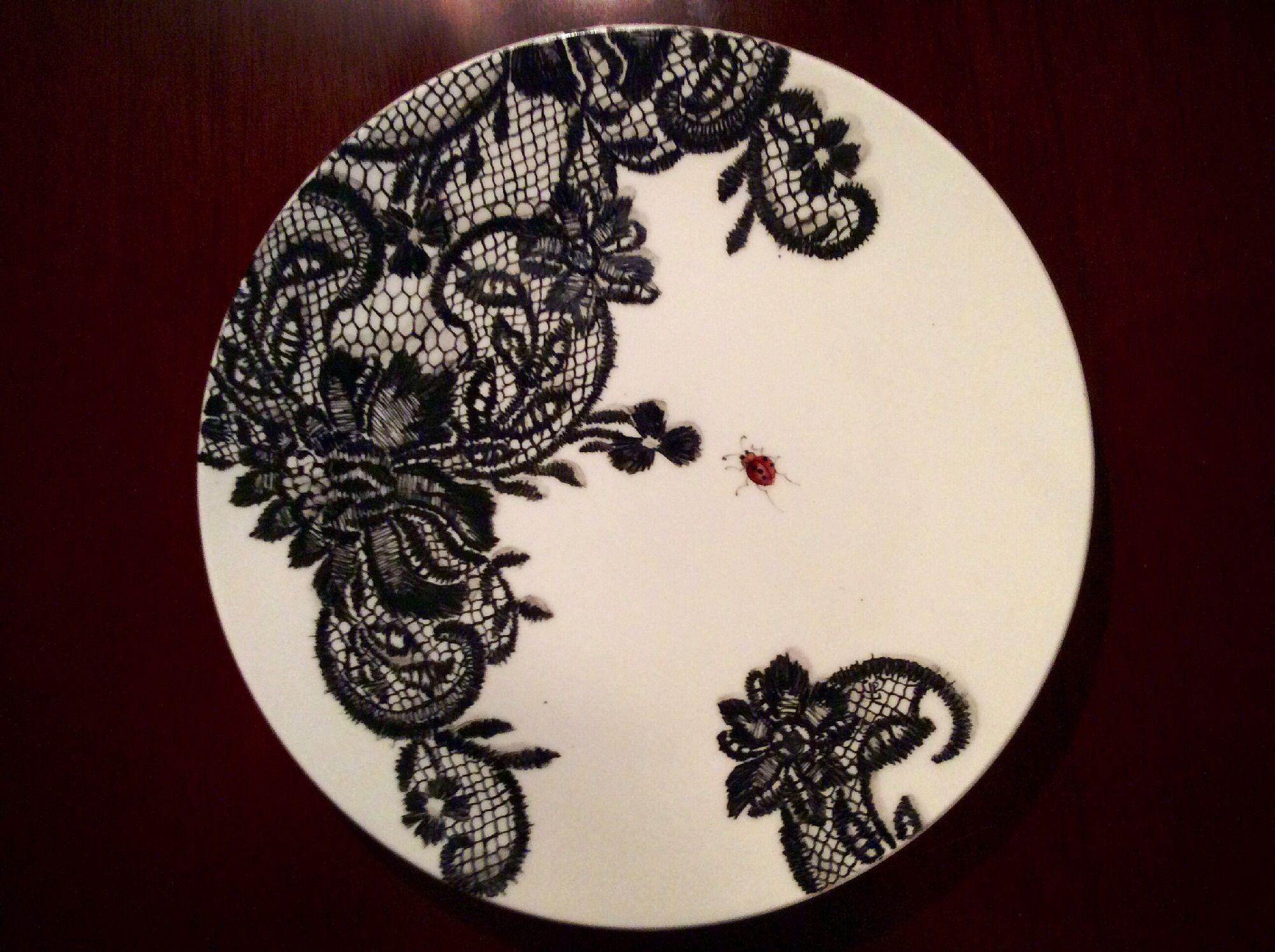 Comment Peindre De La Dentelle porcelain lace. artist peskova.l© | peinture sur porcelaine