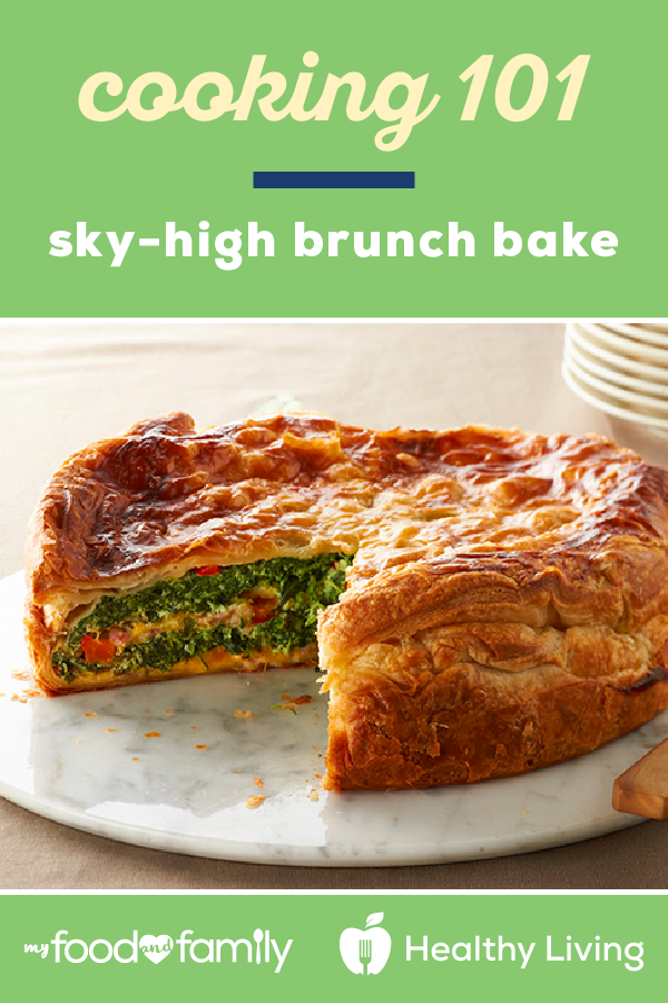 Cooking 101: Sky-High Brunch Bake – Here's a delicious dish that's sure to impress your brunch guests! Make this tasty recipe with frozen puff pastry, POLLY-O Original Ricotta Cheese, OSCAR MAYER Bacon, and KRAFT Cheddar Cheese.