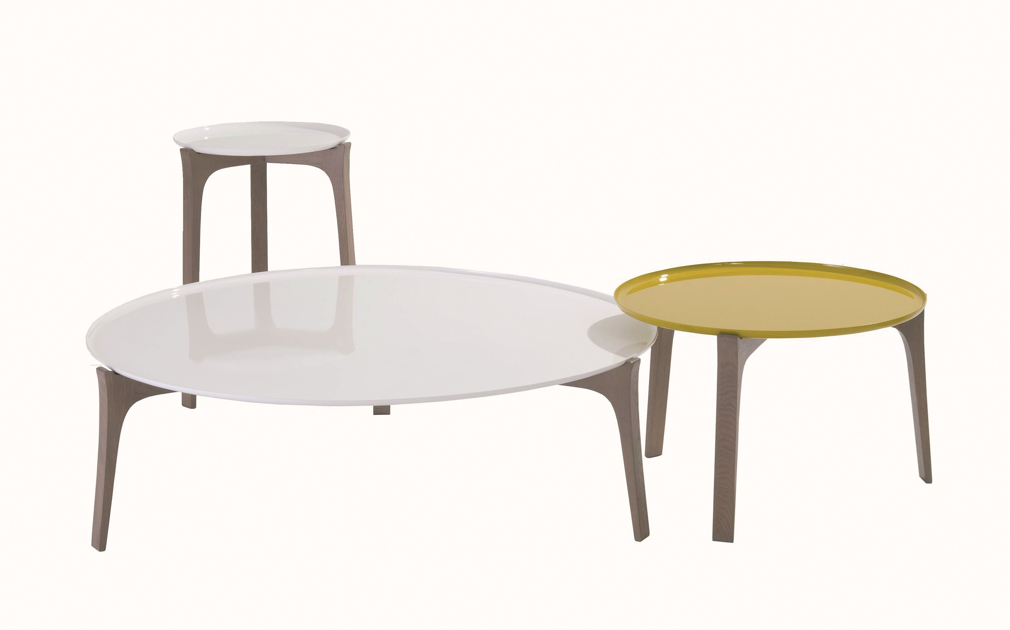 Round coffee table for living room bow les contemporaines - Table syntaxe roche bobois prix ...