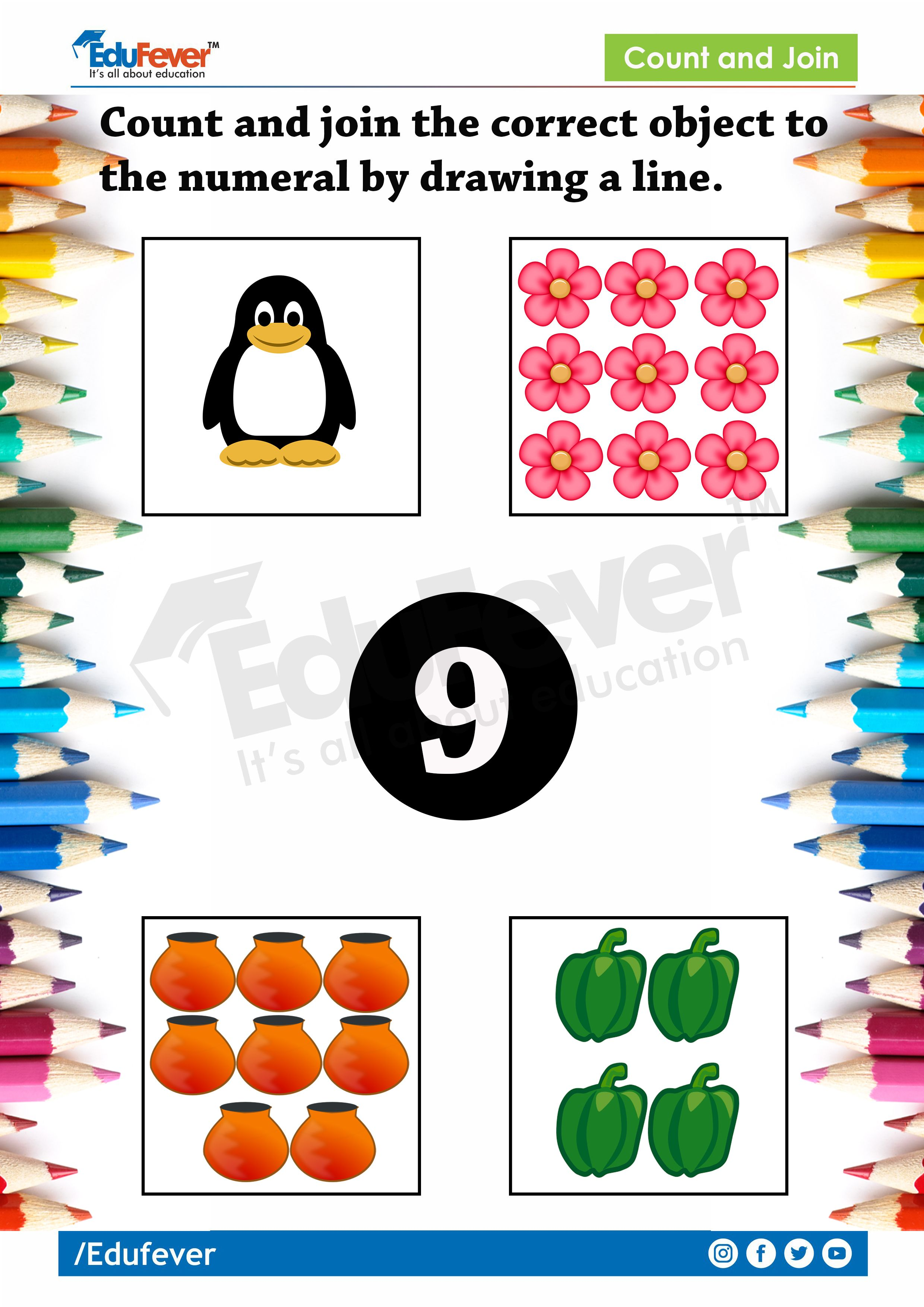 Lkg Worksheet Count And Join Mathematics Worksheets Lkg Maths Worksheets Worksheets Maths for lkg worksheets